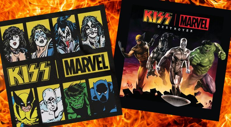 KISS and Marvel co-branded collection