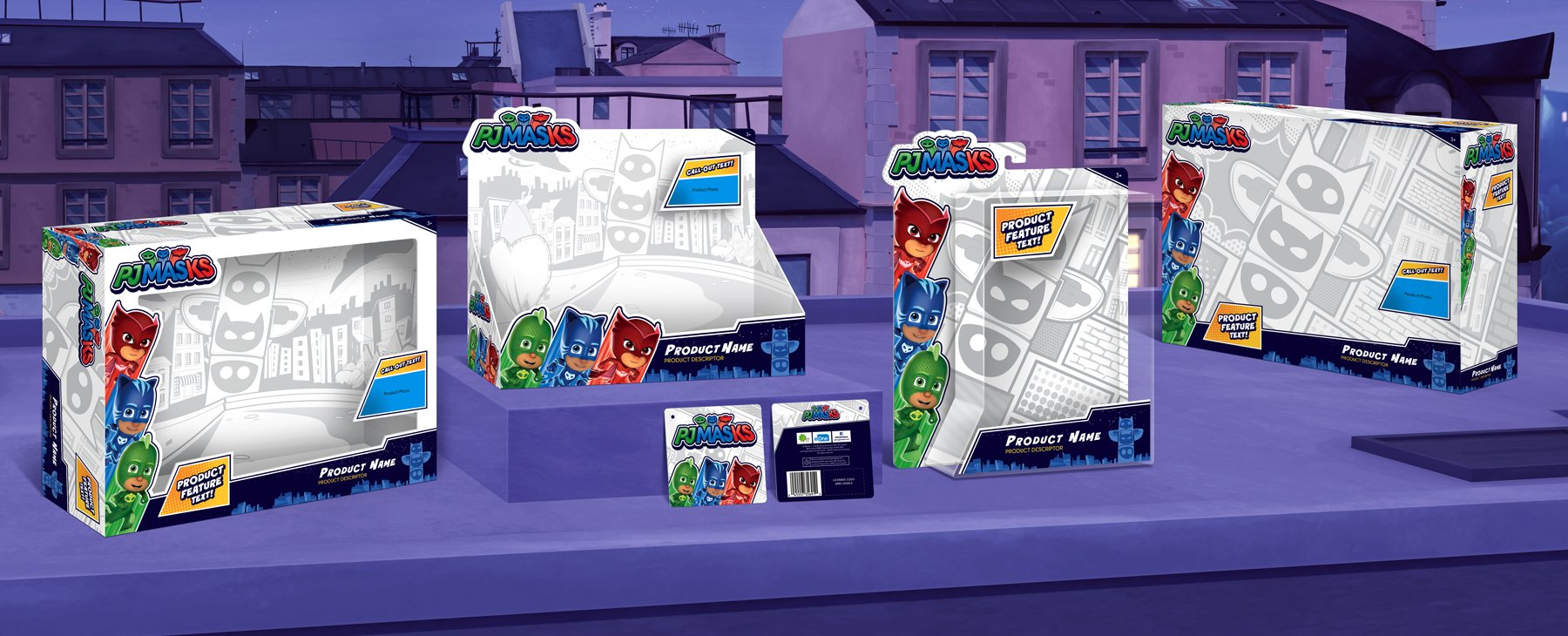 PJ Masks Packaging Design - Rooftop