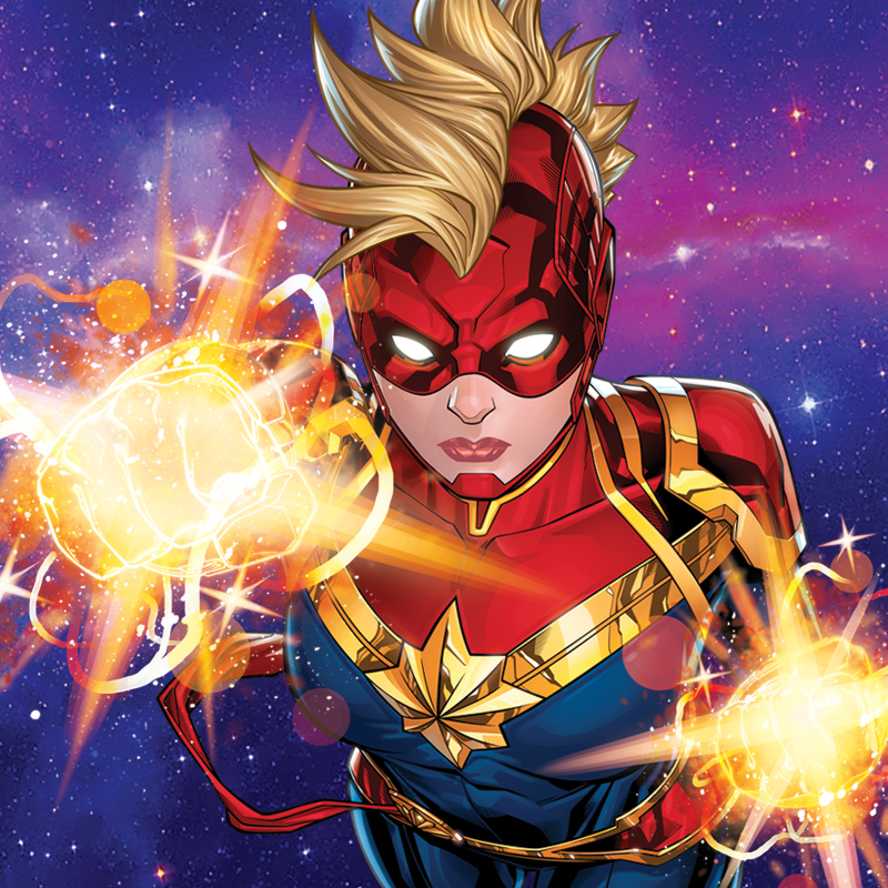 Captain Marvel Style Guide Design - Portfolio