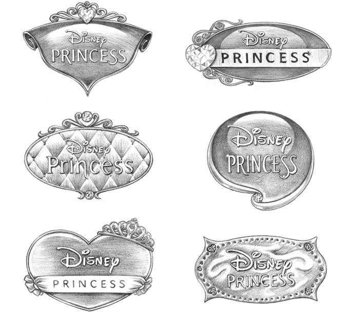 Disney Princess Branding Design - Panel 1