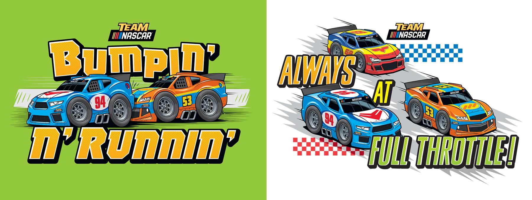 Team Nascar Style Guide Design - Bumpin' N' Runnnin'