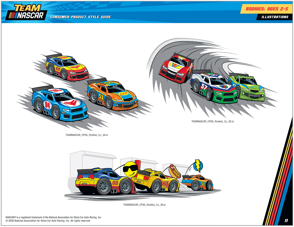 Team NASCAR Style Guide Design - 2