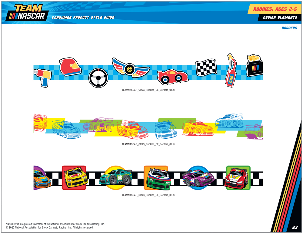 Team NASCAR Style Guide Design - 5