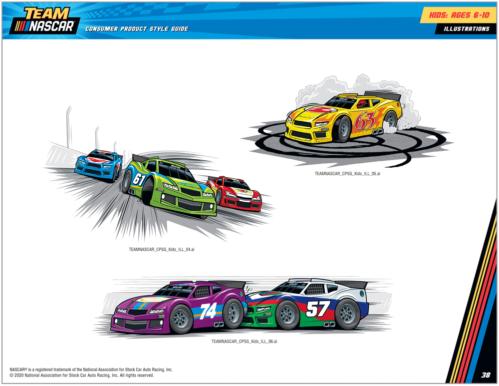 Team NASCAR Style Guide Design - 8