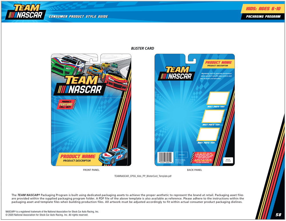 Team NASCAR Style Guide Design - 13