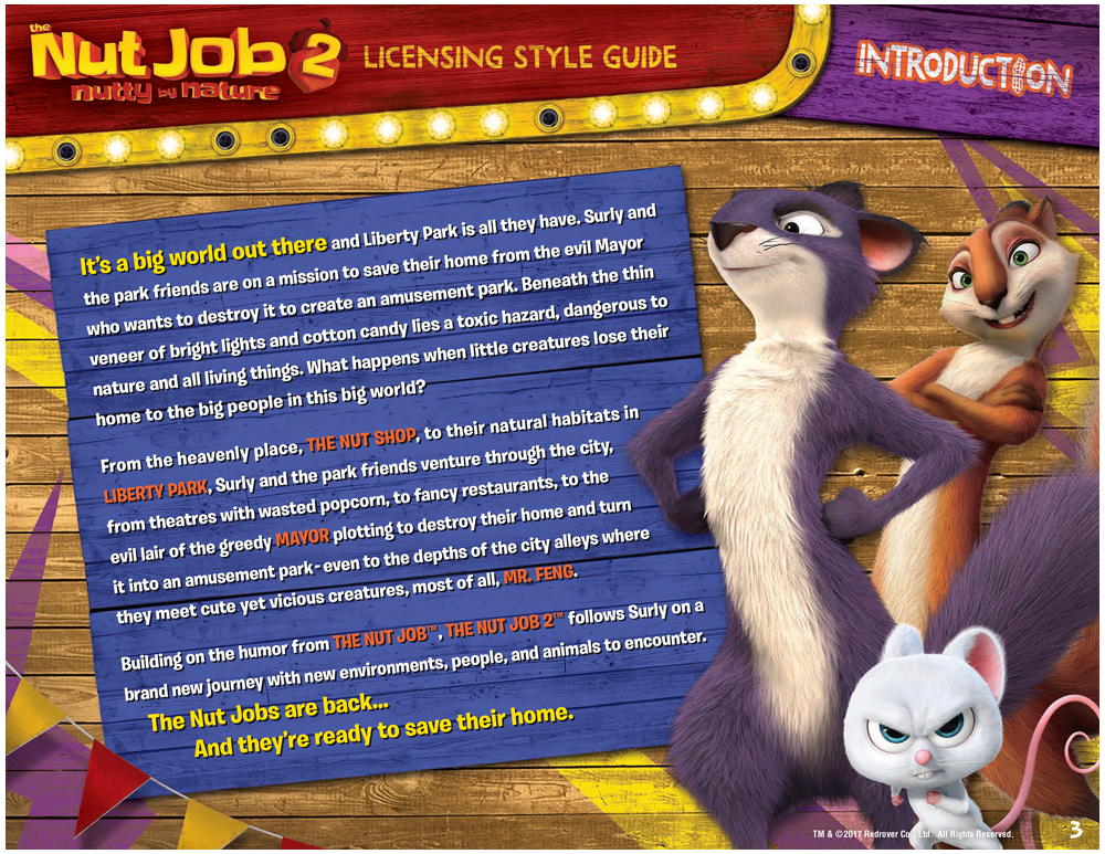 The Nut Job 2 Style Guide Design 3