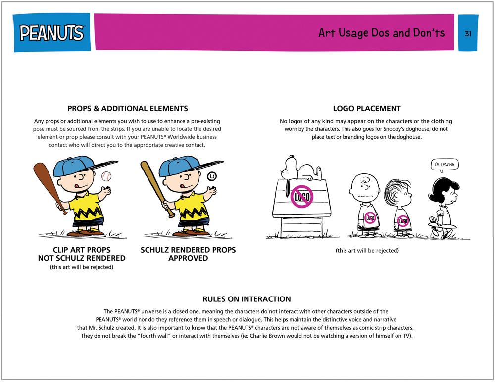 Peanuts Global Brand Guide 13