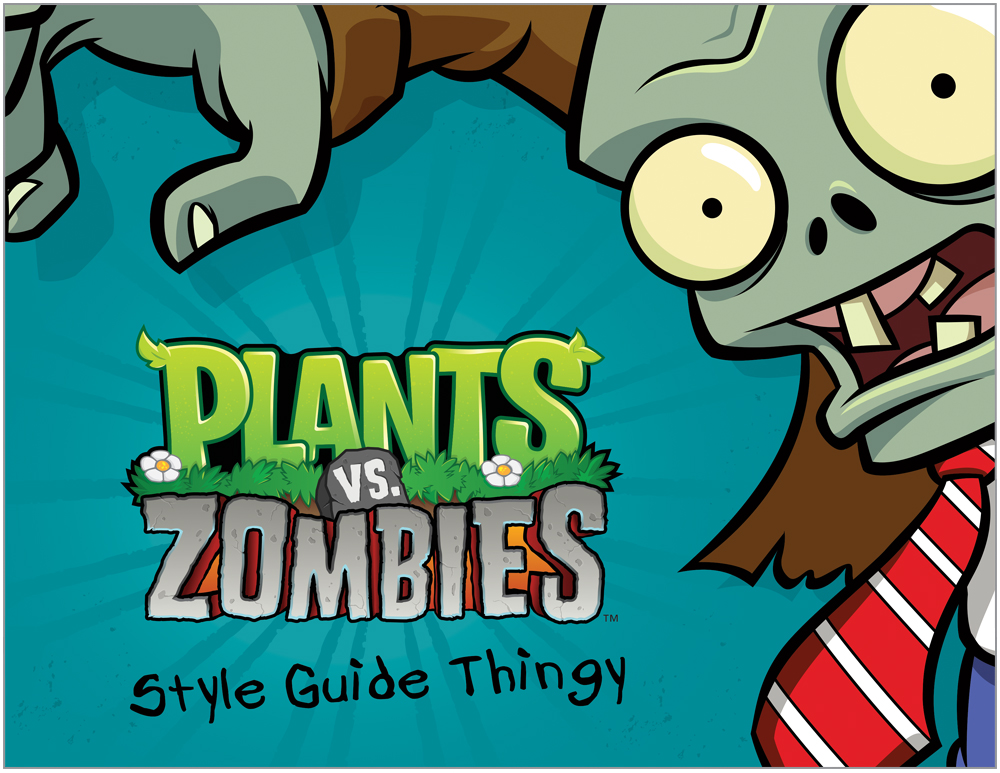 Plants vs. Zombies Style Guide Design 1