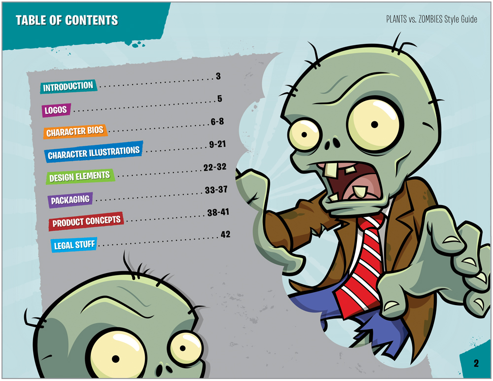 Plants vs. Zombies Style Guide Design 2