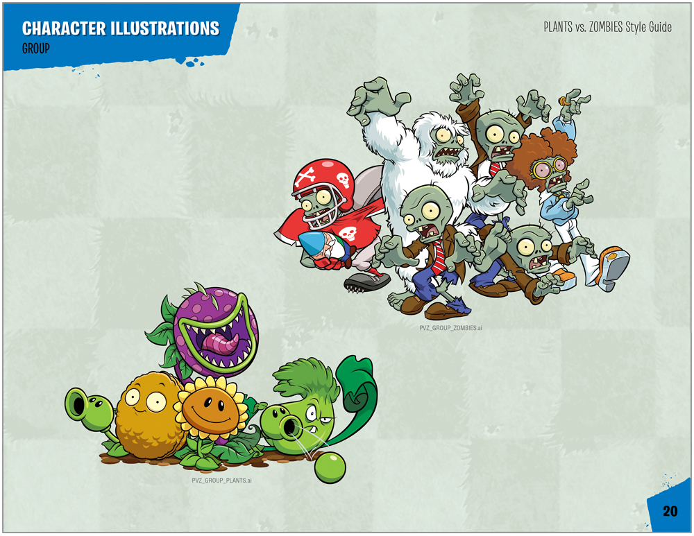 Plants vs. Zombies Style Guide Design 5