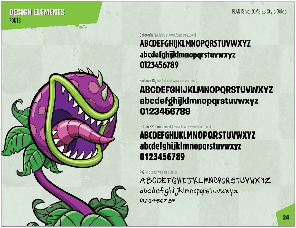 Plants vs. Zombies Style Guide Design 6
