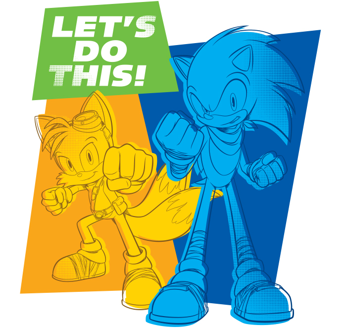 Sonic Boom Vector Style Guide Design - Feature 1
