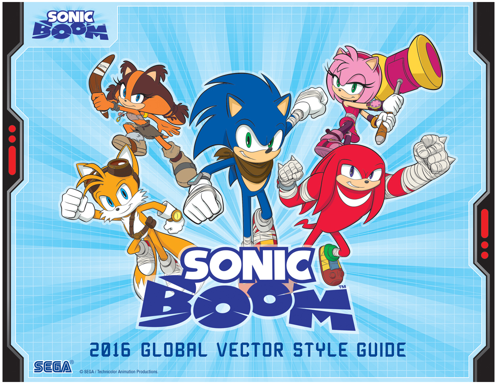 Sonic Boom Vector Style Guide Design 1
