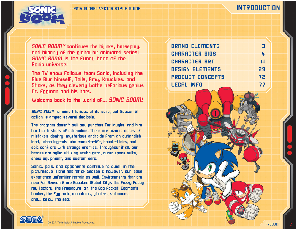 Sonic Boom Vector Style Guide Design 2