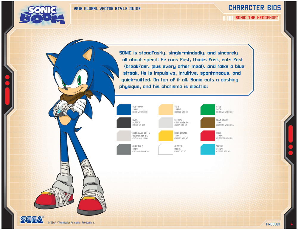 Sonic Boom Vector Style Guide Design 3