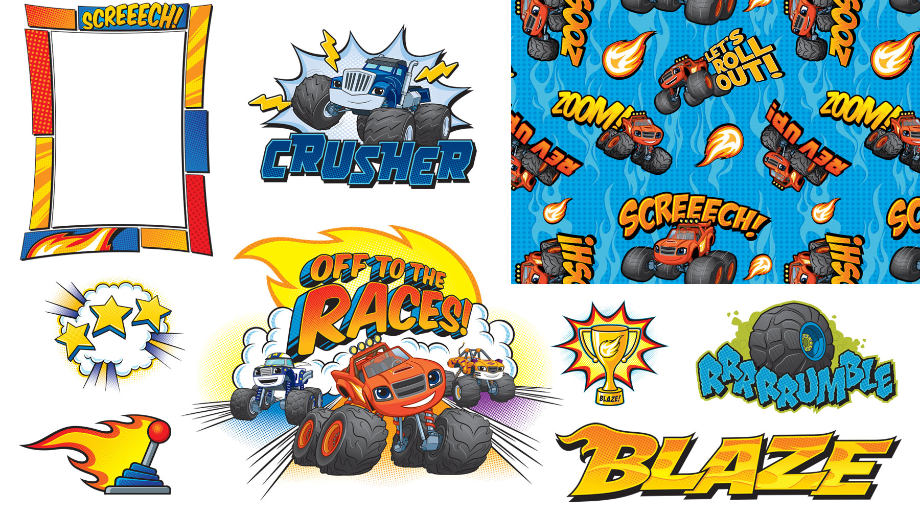 Blaze and the Monster Machines Style Guide Design Elements 1