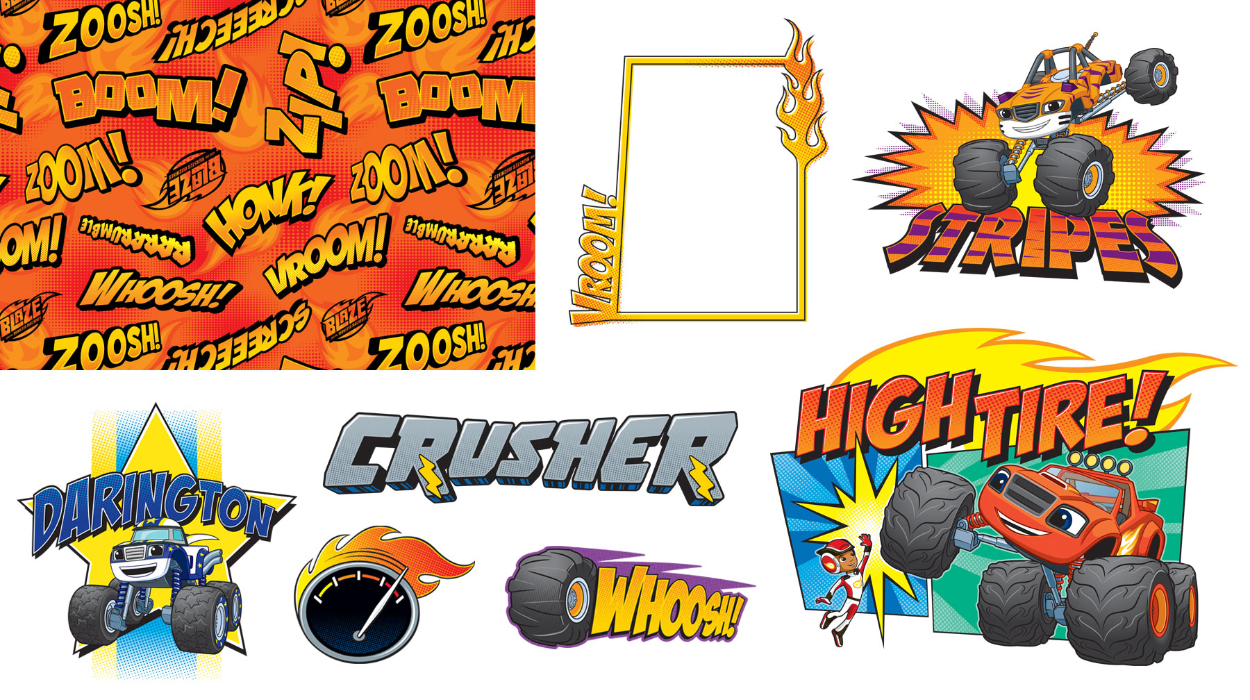 Blaze and the Monster Machines Style Guide Design Elements 2