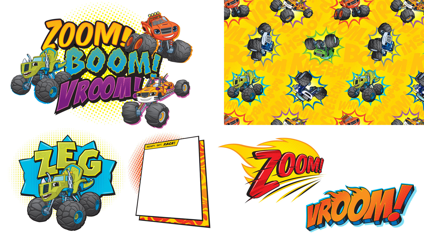 Blaze and the Monster Machines Style Guide Design Elements 3