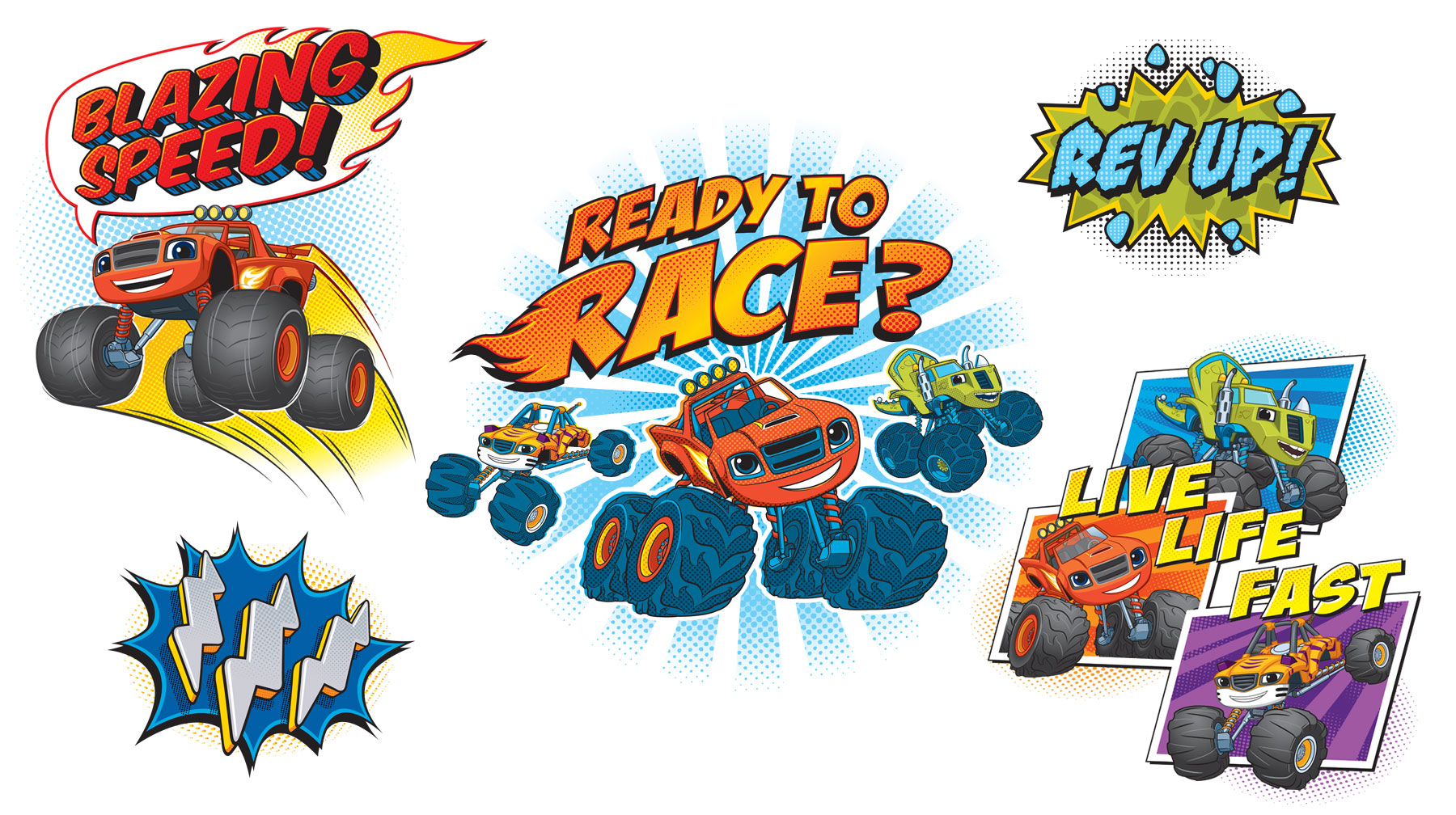 Blaze and the Monster Machines Style Guide Design Elements 4