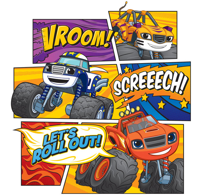 Blaze and the Monster Machines Style Guide Lead Composition Design
