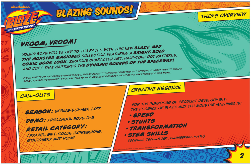 Blaze and the Monster Machines Style Guide Intro Page