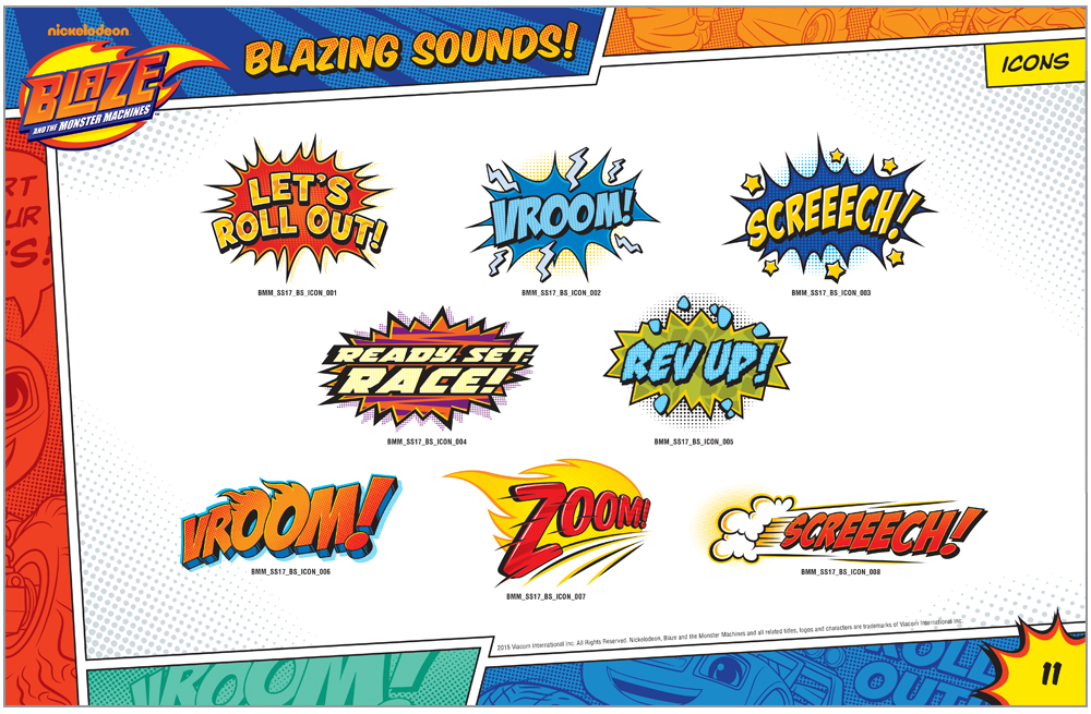 Blaze and the Monster Machines Style Guide Icons