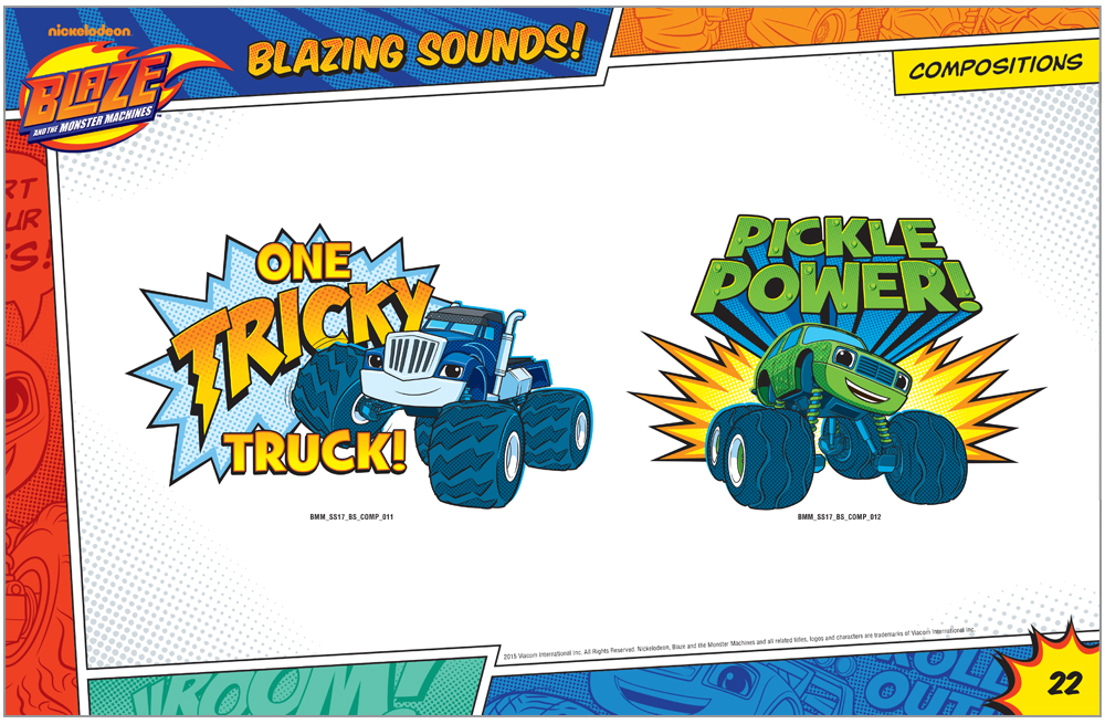Blaze and the Monster Machines Style Guide Compositions