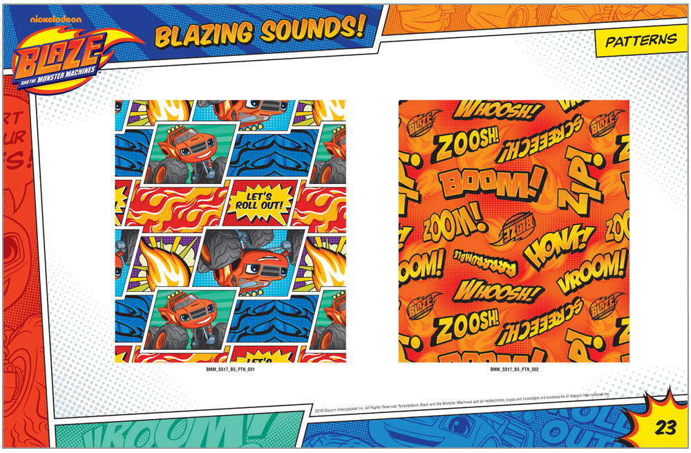 Blaze and the Monster Machines Style Guide Patterns