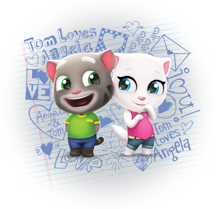 Talking Tom and Friends 3D Mini Style Guide - Panel 1