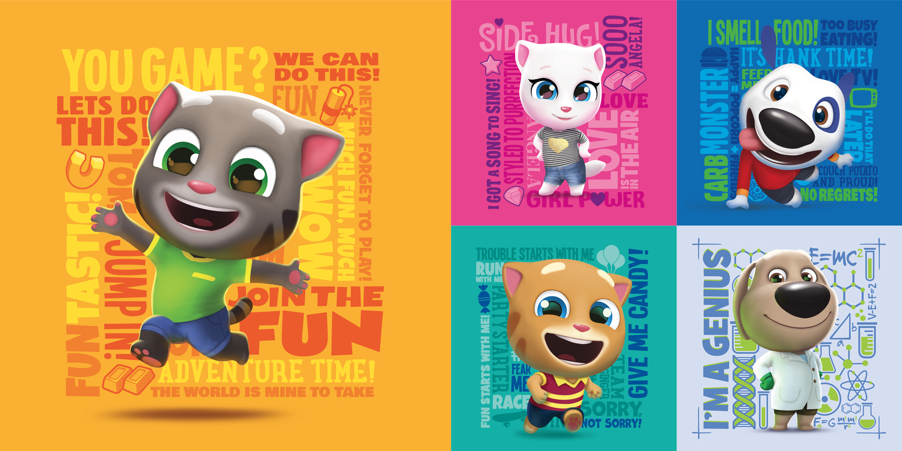 Talking Tom and Friends 3D Mini Style Guide - Panel 2