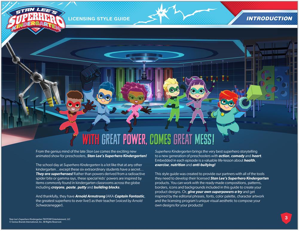 Stan Lee's Superhero Kindergarten Style Guide - Page 3