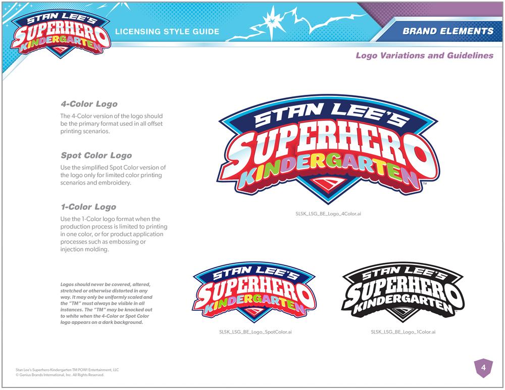 Stan Lee's Superhero Kindergarten Style Guide - Page 4