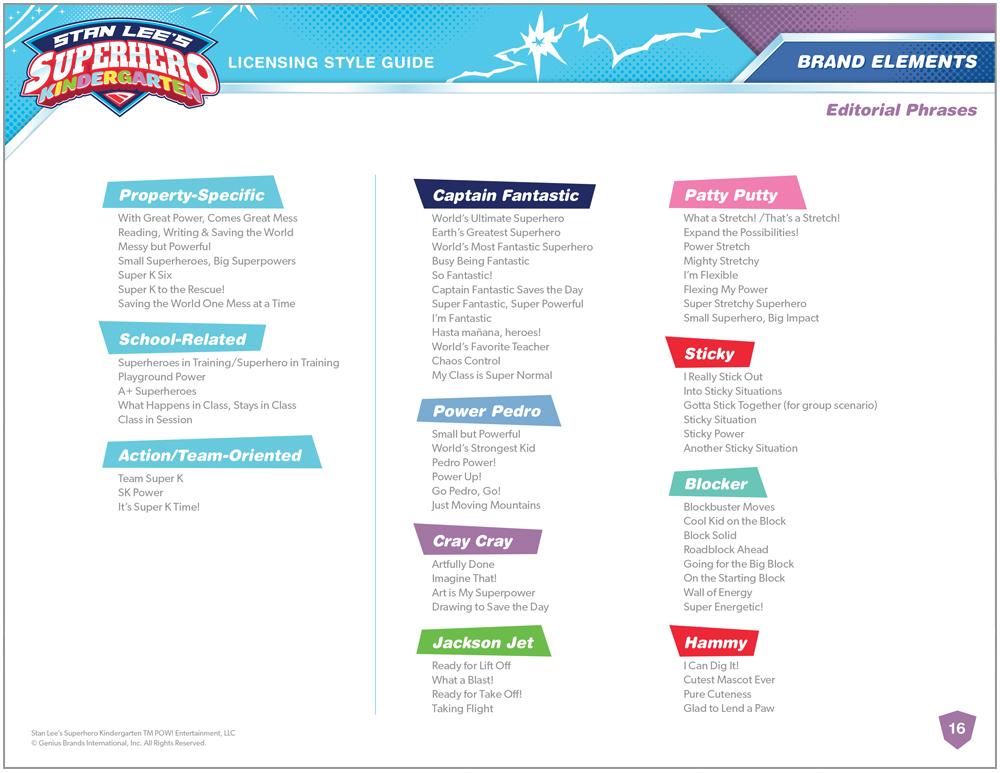 Stan Lee's Superhero Kindergarten Style Guide - Page 8