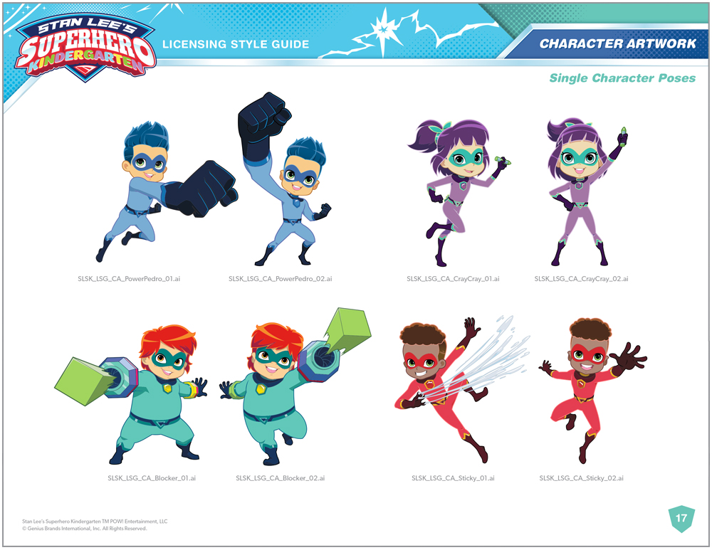 Stan Lee's Superhero Kindergarten Style Guide - Page 9